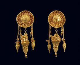 Χρυσά σύνθετα σκουλαρίκια
