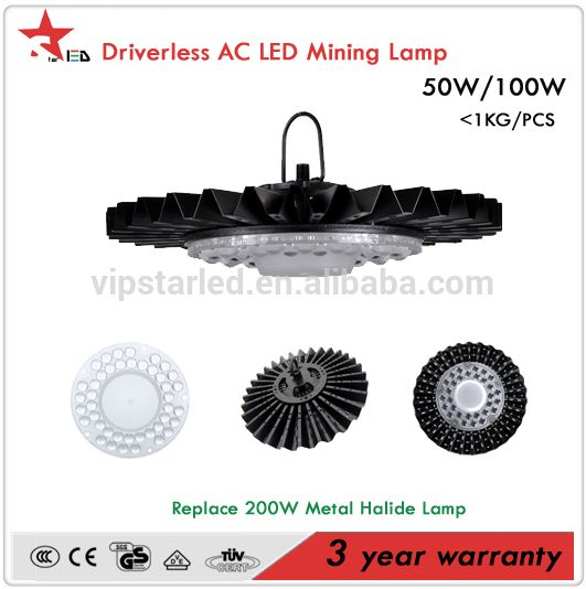 STL IP65 DLC SAA TUV CE certification smd ac led module 50w100w150w200w driverless led UFO High Bay light