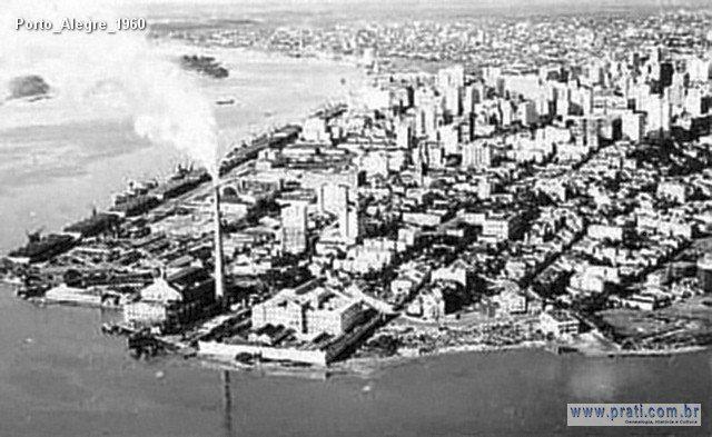 Vista aérea da cidade de Porto Alegre - 1960