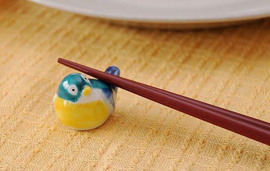 メジロ(グリーン)の箸置き - 箸置き専門ショップ 箸まくら