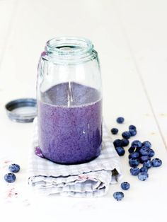 FATTY LIVER DIET DRINK - Raw Blueberry Smoothie.  Liver cleansing diet raw foods…