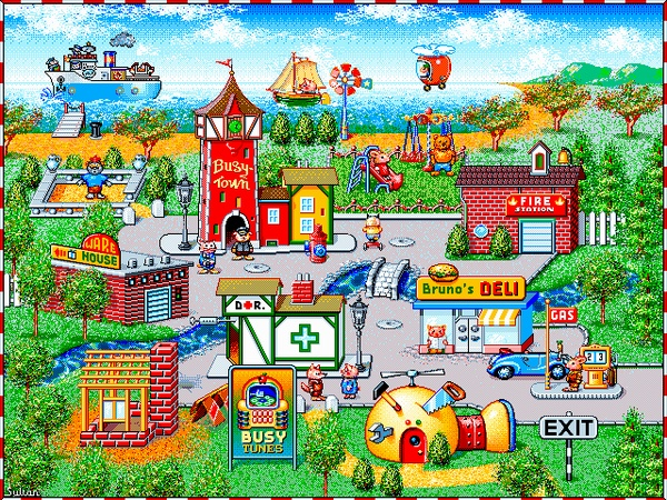 Busy Town Computer Game, i loved playing it as kid. just