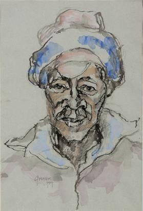 Portrait of a Man - Gregoire Boonzaier
