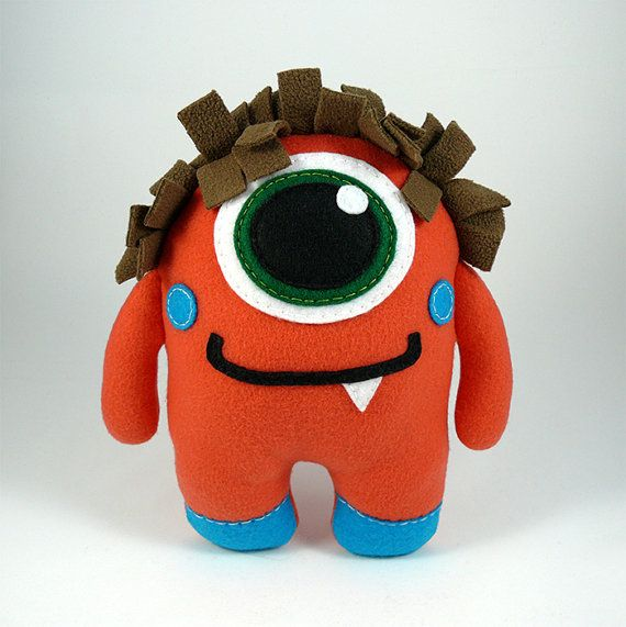 Stuffed Monster Stuffed Animal Cute Plush Toy by MonstersFamily