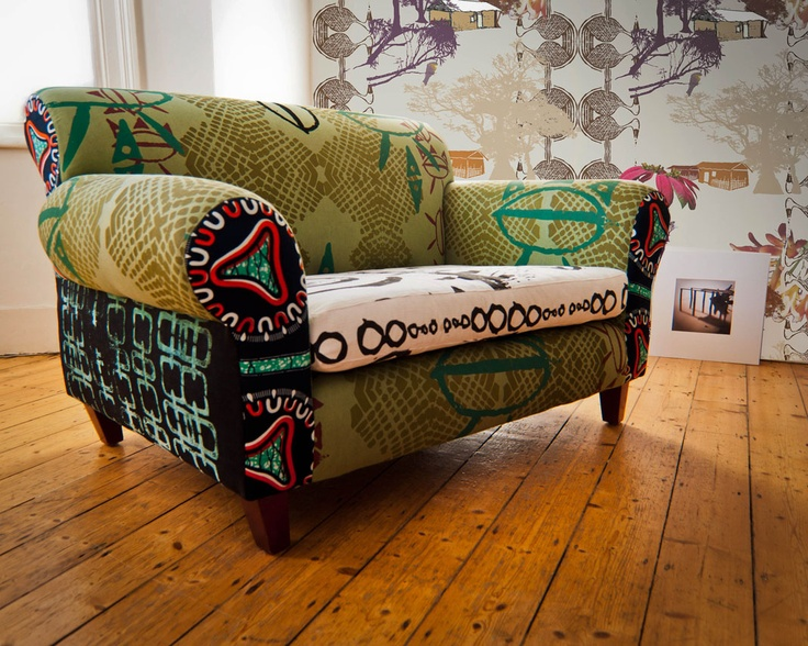 A Unique Sofa For The Home By Julie Kouamo. Patchwork SofaMöbeldesignKreatives  DesignAfrikanischer ...