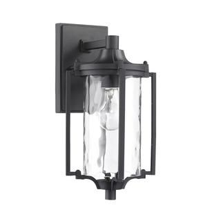 @Overstock.com - Transitonal 1-light Black Outdoor Wall Light Fixture - This Transitional one-light outdoor wall light fixture features clear water glass and will complement your outdoor decor. This wall-mounted outdoor light fixture is weatherproof and corrosion resistant.   http://www.overstock.com/Home-Garden/Transitonal-1-light-Black-Outdoor-Wall-Light-Fixture/8465357/product.html?CID=214117 $68.99