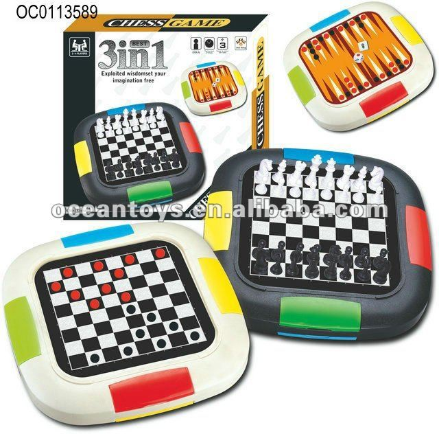3 in 1 checkers/international chess,chess board,chess set $2.24~$5
