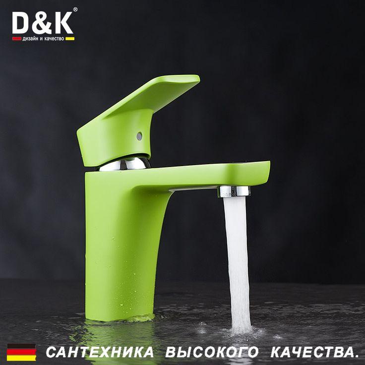 Купить D & K DA1432112 Высокое Качество Умывальник Кран Хром Медь материал Туалете кран горячей и холодной смеситель для раковины кран зеленыйи другие товары категории Смесители для умывальникав магазине D&K Official StoreнаAliExpress. кран ванной и кран