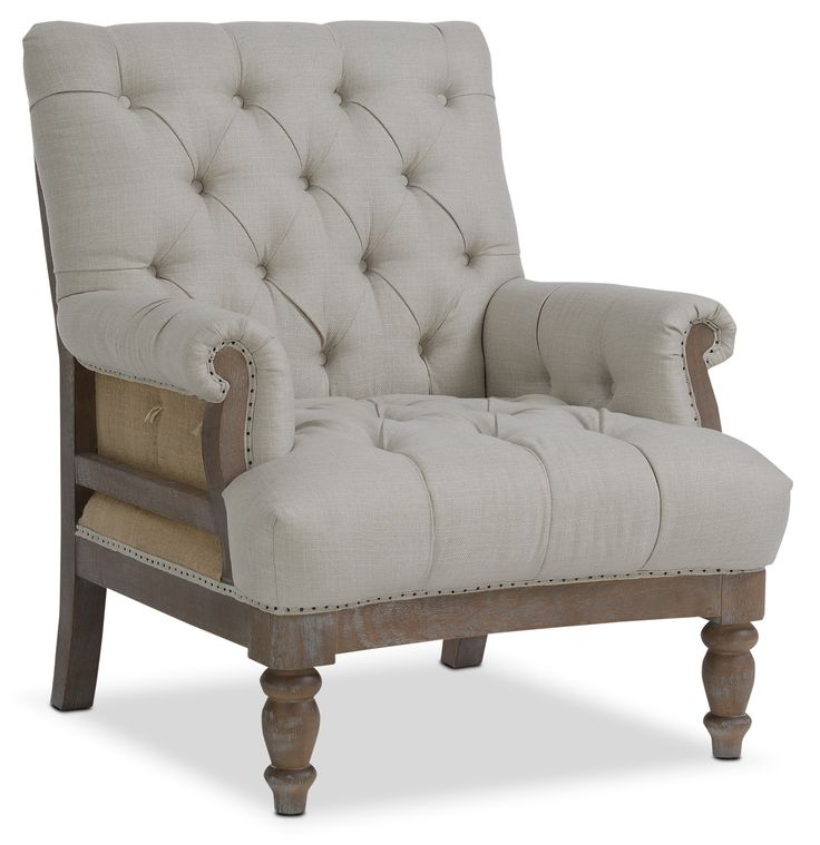 Living Room Furniture - Bridget Accent Chair - Cream