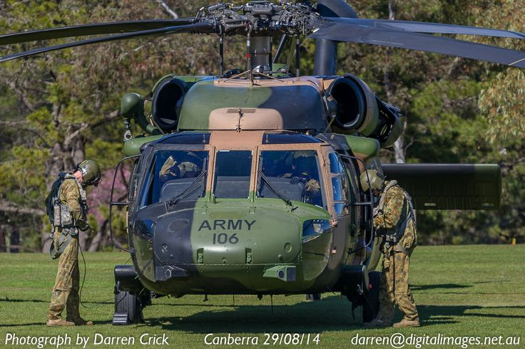 Crew of the Australian #Army Blackhawk A25-106 prep for a flight 29/08/14 in #Canberra #avgeek #aviation #aeroausmag #digitalimages #youradf