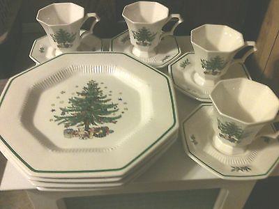 Nikko christmastime dinnerware for 4 set