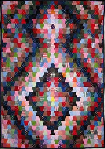 Selvage Blog - Love the layout for this Tumbler quilt!