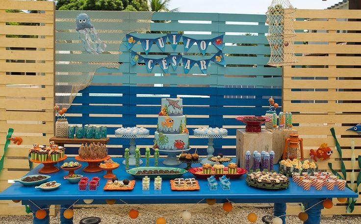 MESA BOLO Festa infantil com tema 'Fundo do Mar' no 'Fazendo a Festa' - Fazendo a Festa - GNT