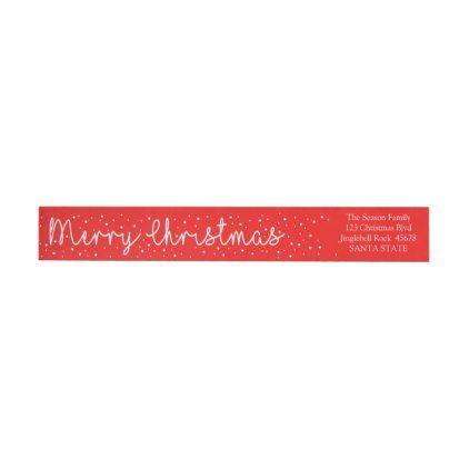 Merry Christmas Snowflake wraparound label - holidays diy custom design cyo holiday family