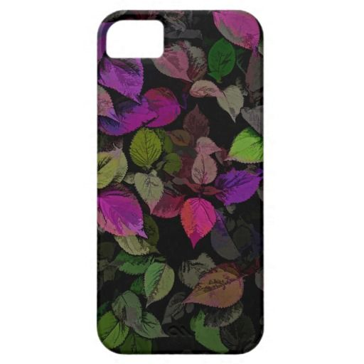 Illustrated Bed of Leaves iPhone 5 Cover