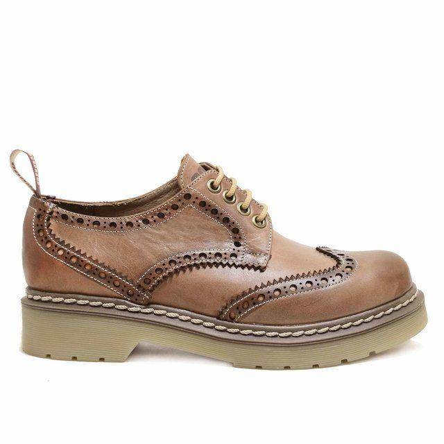 2566fee5698 Zapato de cuero suave picado - Forro de cuero vacuno - Plantilla anatómica  - Suela