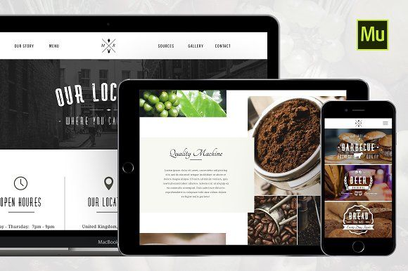 Restaurant Muse & PSD Template by MK Templates on @creativemarket