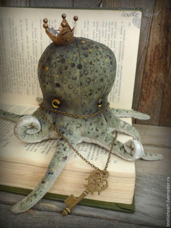 Fabric Art doll Octopus   Купить Повелитель морских глубин - болотный, осьминог, осьминожка, осьминоги, осьминожки, осьминог игрушка