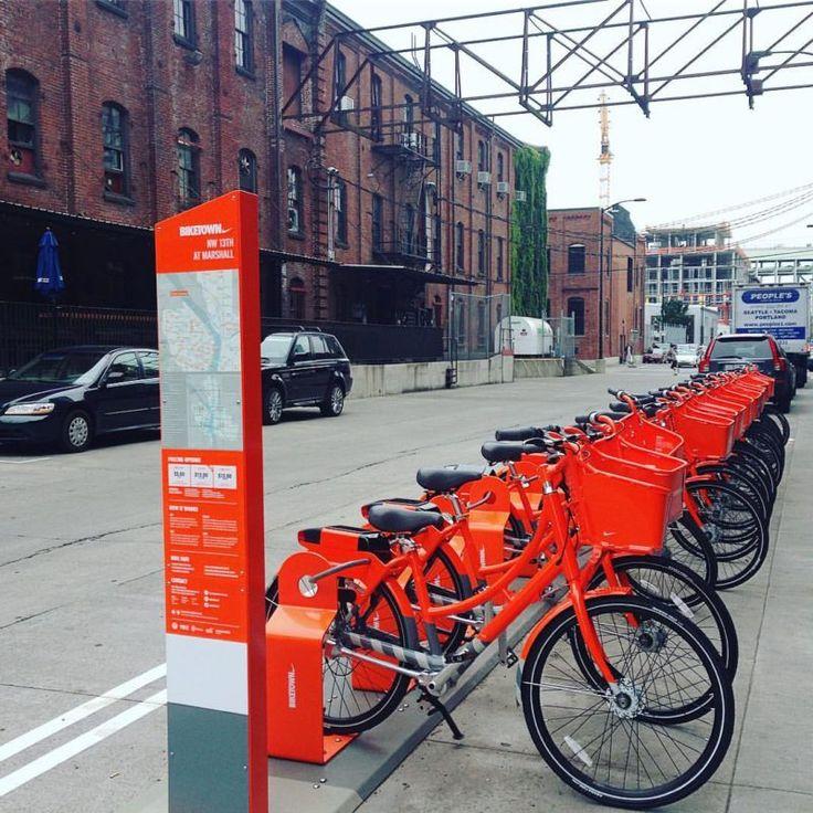 biketown bike share rental service in Portland, Oregon