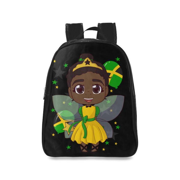 Cute Jamaican Brown Ballerina Princess School Backpack