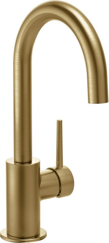 View the Delta 1959LF-CZ Champagne Bronze Contemporary Single Handle Bar Faucet with Swivel Spout  at Build.com.