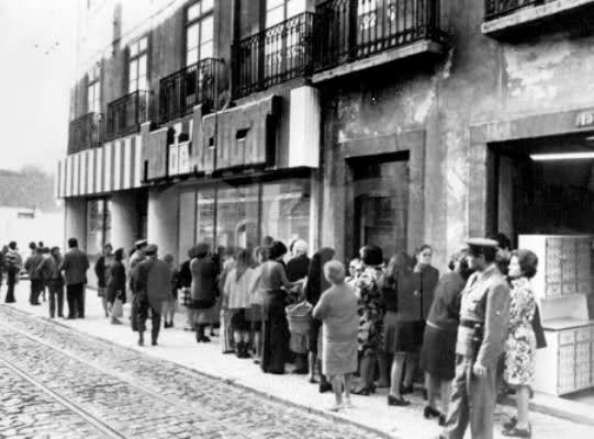 """Pão de Açúcar"", a brazilian supermarket group, in Lisboa, 1977.  Source: Arquivo Municipal de Lisboa."
