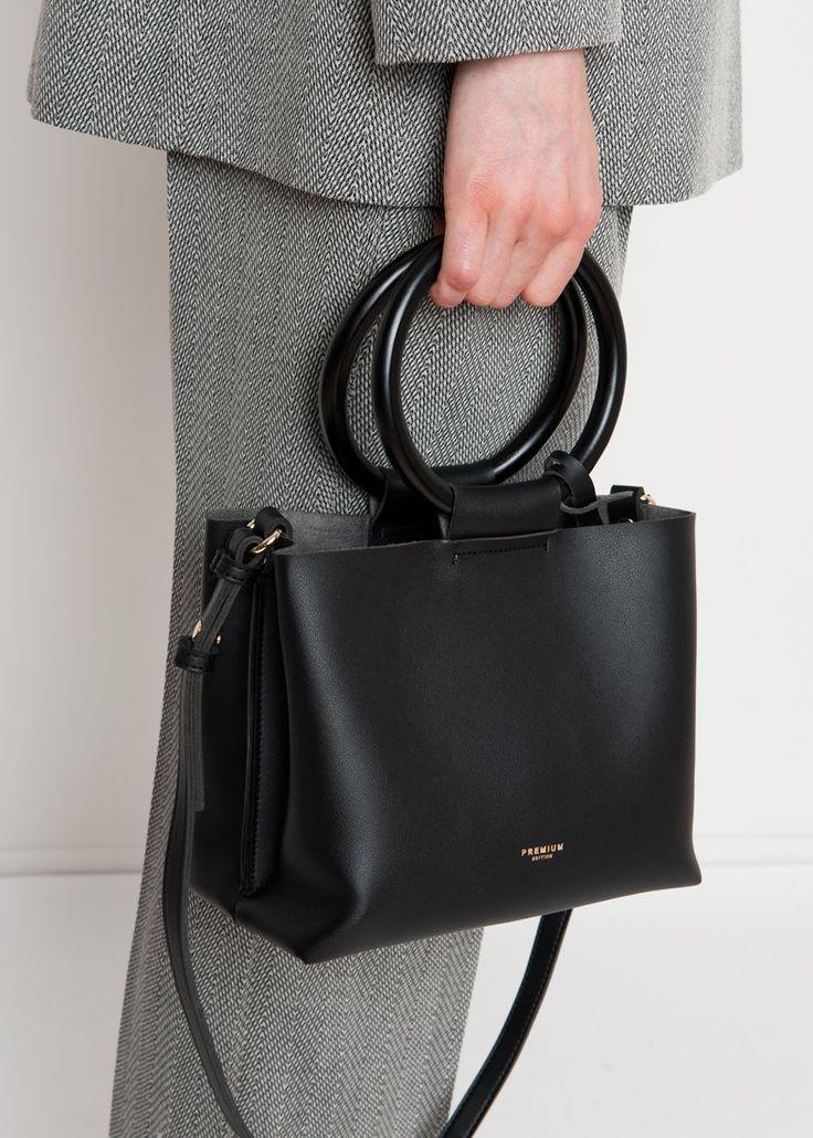 Black Ring Handle Square Bag – The Frankie Shop