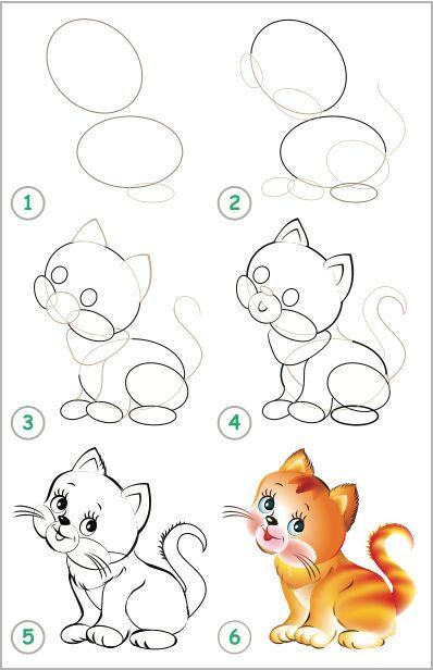 knep, knåp, knep och knåp, knep & knåp, förskola, skola fritids, barnpyssel, pyssel, pyssel för barn, pyssla och lek, pyssel för barn, pyssel, pysseltips, rita, teckna, lära sig rita, hur ritar man, katt, kattunge, djur