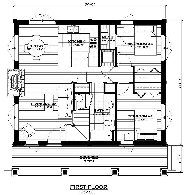 13 best log home floor plans images on pinterest log for Weekend cabin floor plans