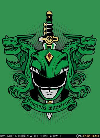 Angel Grove Collection | Viridis Draconus Monstrum | Green Ranger Crest