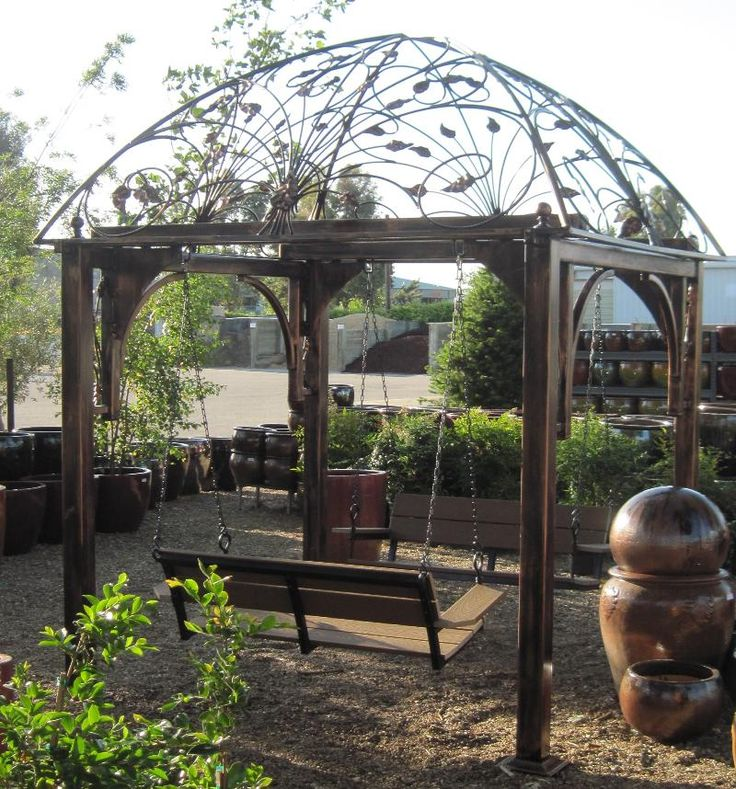 This Gazebo Swing is at Golden Hill nursery in Paso Robles.