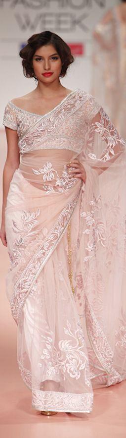 Bhairavi Jaikishan saree at Lakme Fashion Week 2012 - original pin by @webjournal