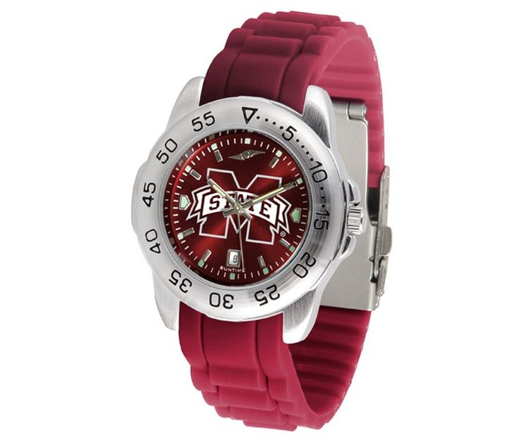 The Sport AnoChrome Mississippi State Bulldogs Watch is available in a Mens style. Showcases the Bulldogs logo. Color-coordinated silicone band. Free Shipping. Visit SportsFansPlus.com for Details.