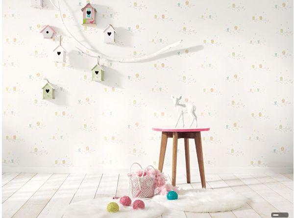 Casadeco y su dulce colecci n arc en ciel papel pintado - Habitacion bebe papel pintado ...