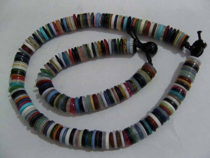 Button necklace and bracelet