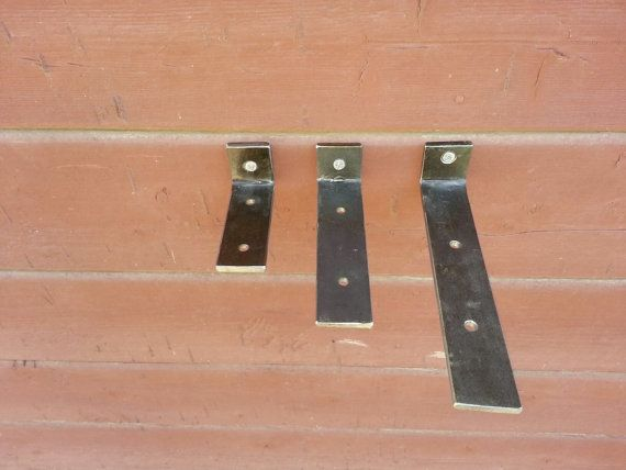 Pair Hidden Blind Floating Shelf Brackets Steel Handmade in USA & Engineered