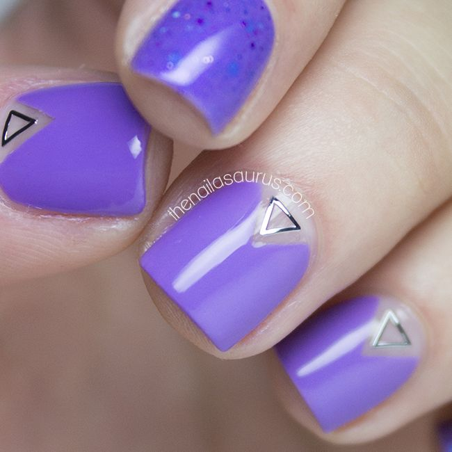 Negative Triangles with NYC Lavender Blossom