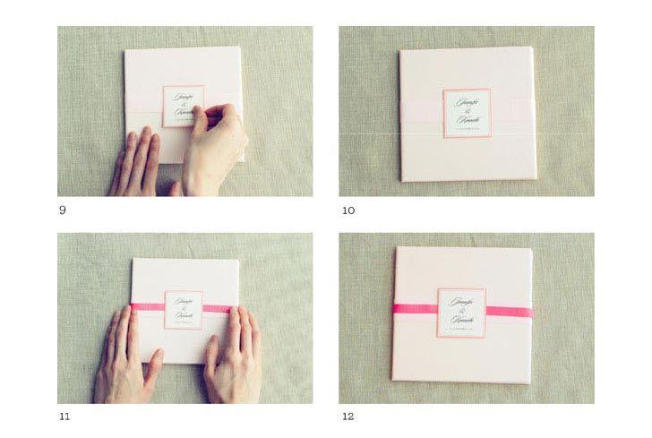上品で落ち着いた手作り結婚式招待状の作り方 | 結婚式 DIY&ハンドメイド作り方