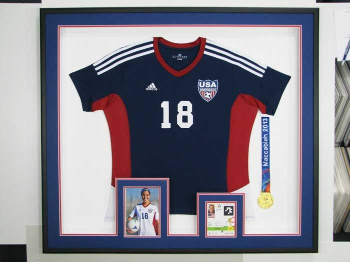 5bb8990b0 Soccer Jersey in a shadow box frame