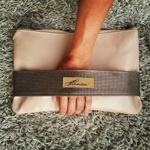 Leather hand made clutch