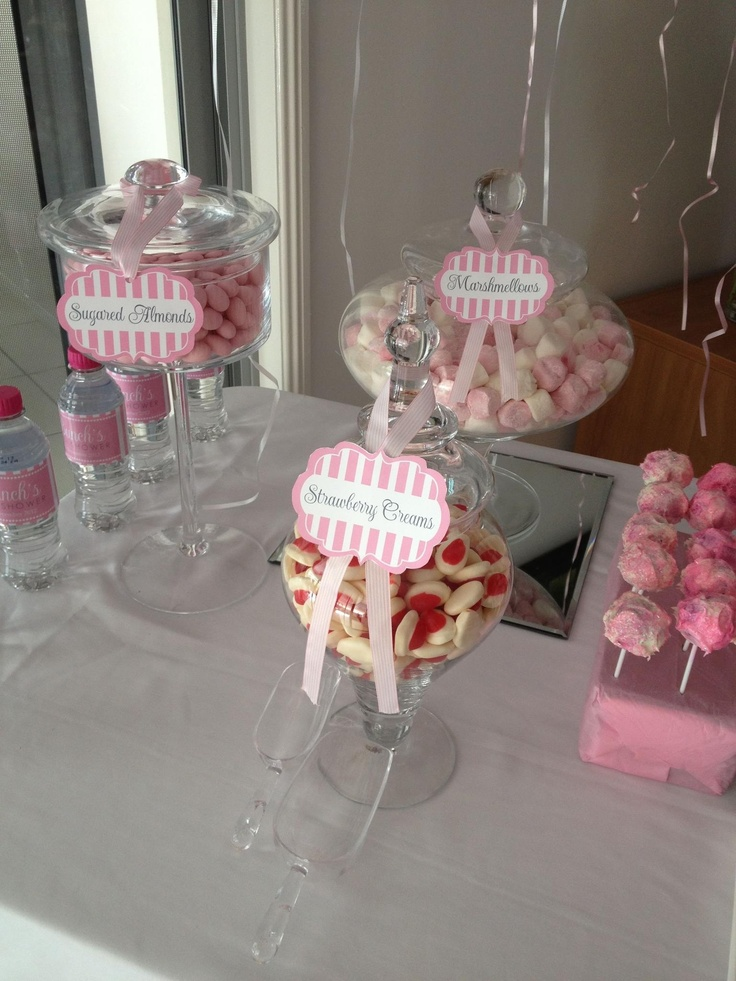 Pastel pink for a beautiful baby shower!