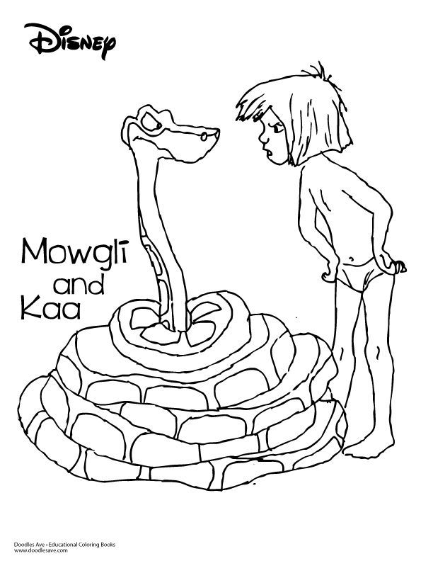 Hathi Jr And Mowgli Jungle Book Coloring Picture