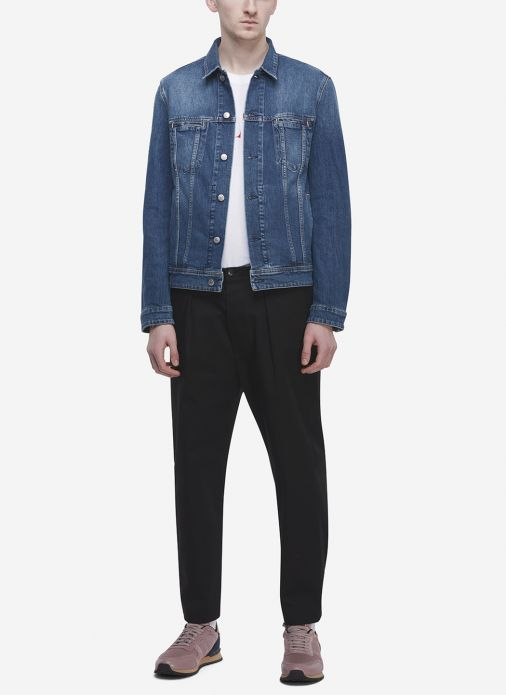 a37cf8e85dc Acne Studios Bla Konst Pass Denim Jacket In Blue