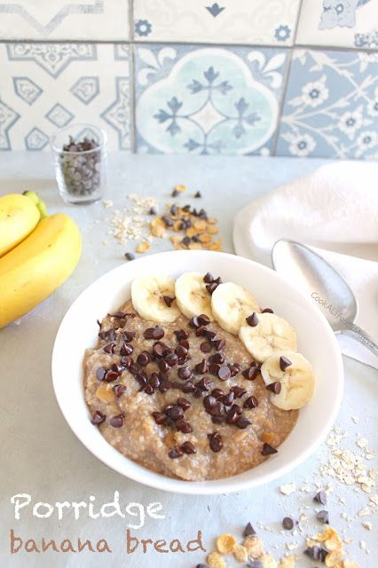 Porridge banana bread #oatmeal #breakfast