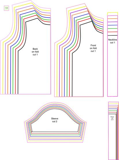 Girls t shirt patterns