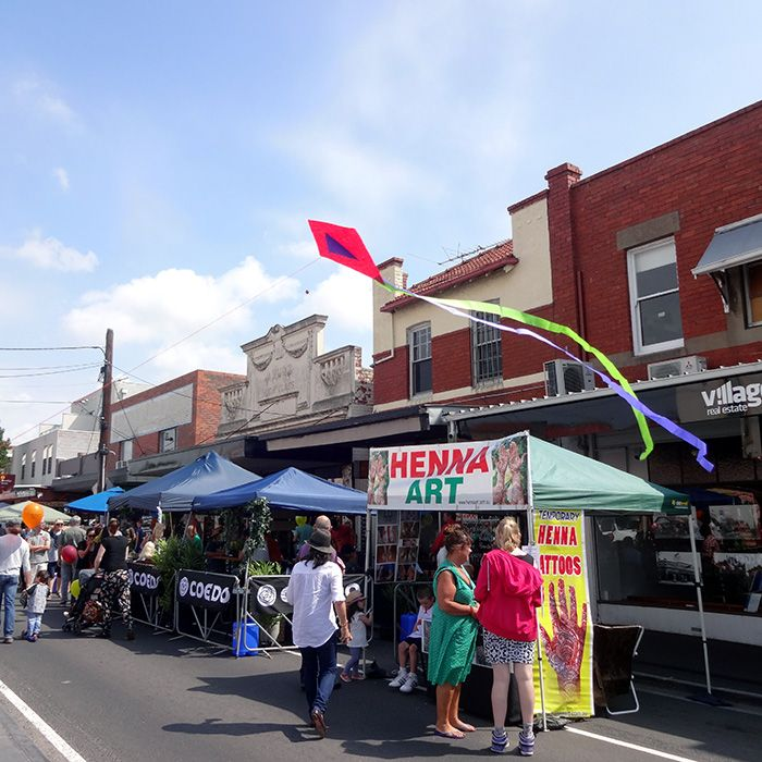 Clayton Street Festival 2014. WORLD smallest KITE in Melbourne, Victoria, Australia