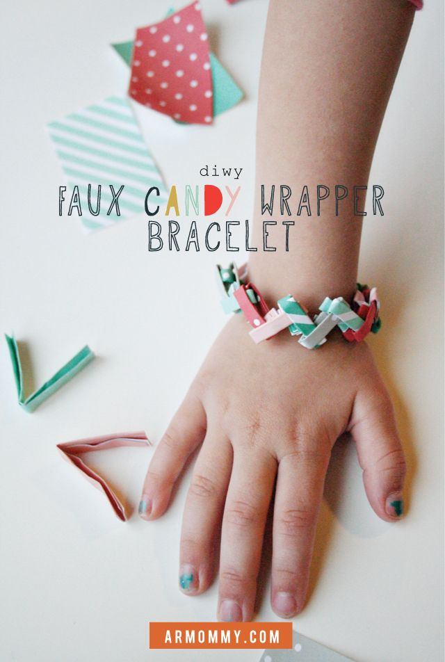 I remember these!! --> throwback candy wrapper bracelet (DIWY) diy, kid craft, paper, activity