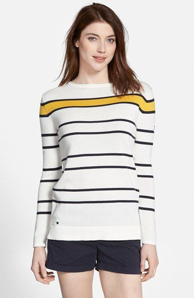 Barbour 'Burnmouth Crew' Stripe Cotton Sweater available at #Nordstrom