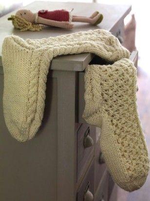 Strickspaß!  Socken stricken: Fußwärmer mit kostenloser Anleitung