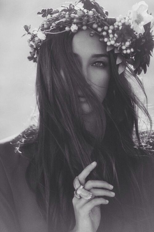 .id rather have flowers in my hair instead of diamonds round my neck.